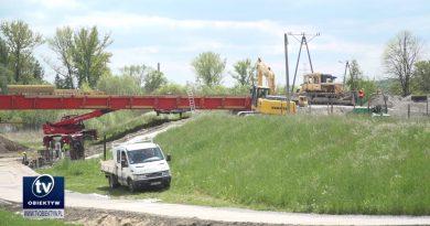 Trwają prace związane z budową mostu na osiedlu Gądki w Jaśle